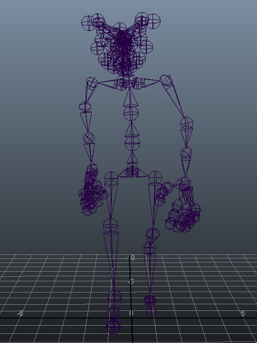 Skeleton consisting of 96 joints